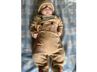 Reborn Doll Baby Boy with Moses Basket