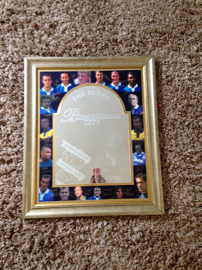 "Birmingham City Football Club framed picture/mirror 21.5"" x 25.5in Sutton Coldfield, West MidlandsGumtree - BIRMINGHAM CITY FOOTBALL CLUB FRAMED PICTURE / MIRROR SIZE 21.5 INCHES X 25.5 INCHES COLLECTION ONLY MINWORTH B76 PLEASE CHECK OUT OTHER ITEMS IM SELLING"
