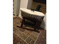 MOSES BASKET WITH ROCKING STAND!
