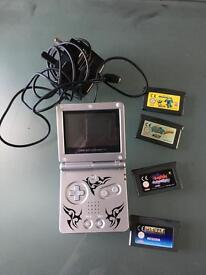Gameboy advance plus games + charger