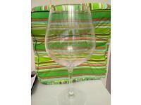 Giant wine glass wedding centerpiece