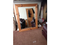 Solid pine framed mirror