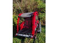 Raleigh child bike trailer - red