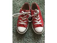 Red Converse size 12