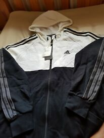 *Adidas Performance Hooded Zip Jacket Black/White* (Mens Size: M Condition: Brand New) Sport/Casual