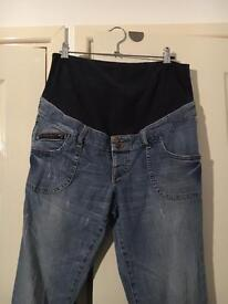 H&M Maternity Jeans, over Bump - size 12