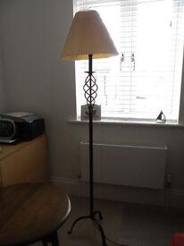 Black coloured metal floor standing Lamp