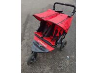Out 'n About Nipper Double V4 Twin Pushchair - Carnival Red
