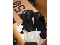 Adidas Yeezy Boost 350 V2 Core Black/Solar Red UK 9.5/US 10/ EU 44