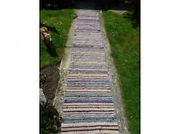 Lovely long handmade runner rug, possibly Indian?