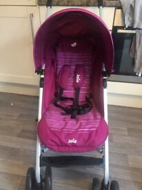 Joie stroller (used once)