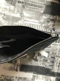 Mango black clutch bag