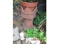 Victorian terracotta chimney pot.