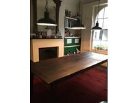 Beautiful kitchen dining table made from 18th century floorboards