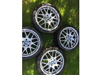 BMW 18 INCH CSL M3 WHEELS X 4 WITH TYRES !