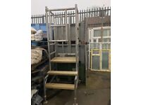 Tall Aluminium Podium For Sale (Wood Steps built for it) Repair Job. Works Great Now
