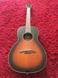 Alvarez AP66ESB Acoustic Parlour guitar - as new.