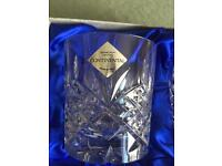 6 Edinburgh Crystal Continental glasses, still Boxed, new and unused.