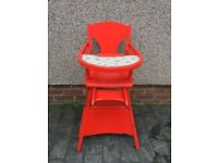 Wooden Vintage baby's highchair/toddler table