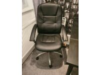 Office Chair in black leather - pickup