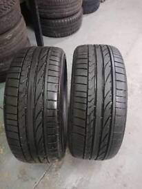 Two matching 205/45R17 Bridgestone Potenza Re050a tyre with 5mm+ free fitting