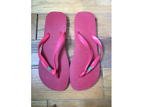 Havaianas Mens Brasil Brazil Flip Flops/Sandals Ruby Red Size UK 9-10, EUR 45-46 BRA 43-44