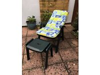 Jardin 2 footrests / side tables (chairs in photo advertised separately for sale)