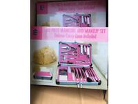 22 piece manicure and makeup set
