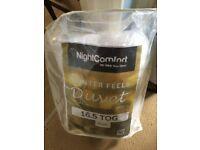 16.5 tog single bed duvet - as new in original bag.