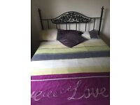 Double bed with head frame