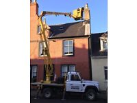painter in lanark exterior walls soffitts fascias gutters cherry picker hire