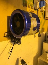 "Cheshunt Hydroponics Store - used 8"" Hyperfan with speed controller"