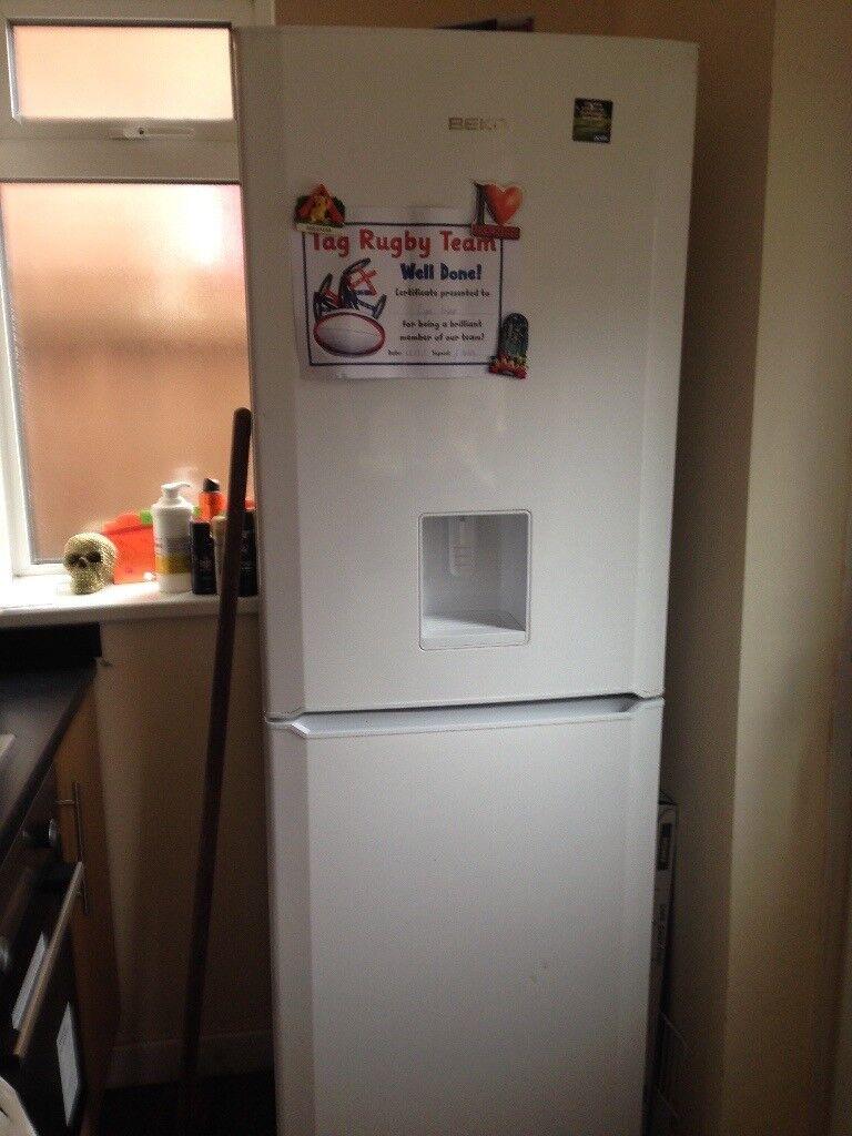 Large Beko fridge freezer with water dispenser