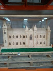 Cathedral made of matchsticks