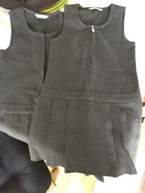 M &S grey school dresses aged 4-5yrs