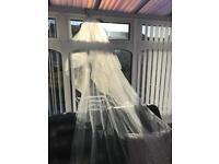 Richards design Swarovski cathedral length veil