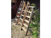 Wooden step ladders old