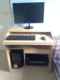 Desktop with windows 10, Philips Monitor, Epson Stylus printer, Brand New Keyboard and Mouse Boxed