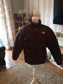 The North Face Puffa Coat women's L brown 700