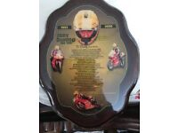 Lovely plaque of joey dunlop