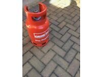 propane gas bottle, just replaced and full of gas.