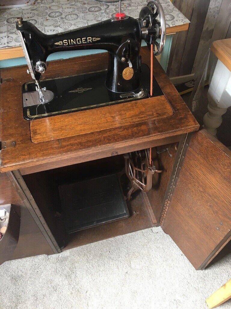 Singer Treadle Sewing Machine, With cupboard housing | in Dymchurch, Kent |  Gumtree