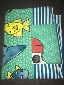 Single shark quilt cover