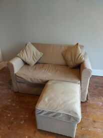 Ikea Hagalund sofa bed, storage footstool and matching 2 cushions (L Shape sofa right or left side)