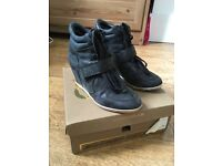 Ash Bowie leather wedge trainers (black), size 38