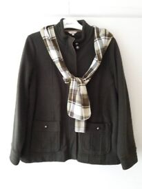 Brand new M&S Ladies khaki fleece with scarf, Size 16