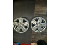 A pair of 16inch alloy wheels