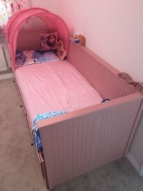 Ikea Pink Day-Bed with 3 Drawers plus 2 Mattresses - HEMNES