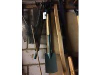 Garden fork and border spade