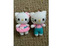 Crochet doll,hello kitty keyring 4 inches